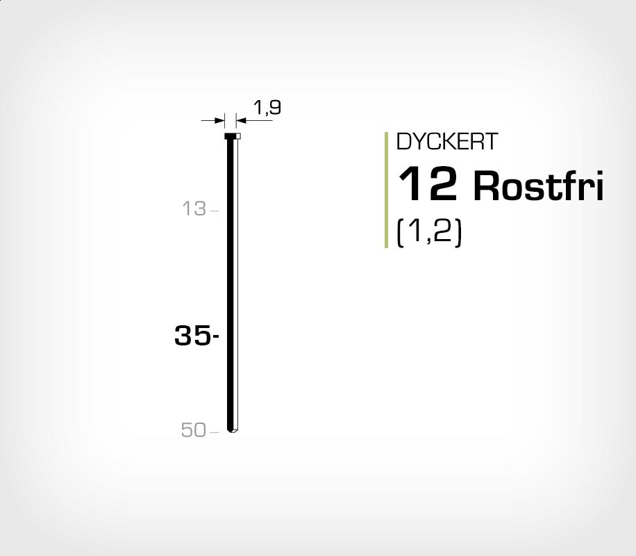 Dyckert rostfri 12/35 SS (SKN 12-35 SS)