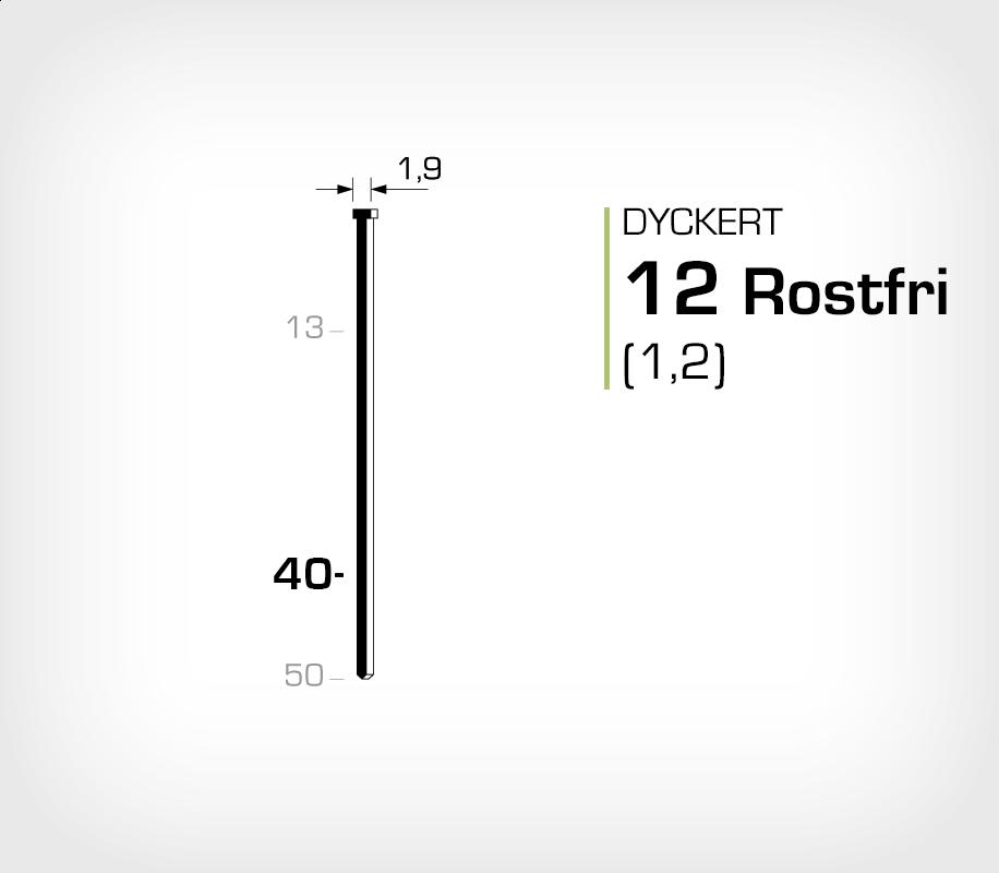 Dyckert 12/40 SS Rostfri (SKN 12-40 SS)