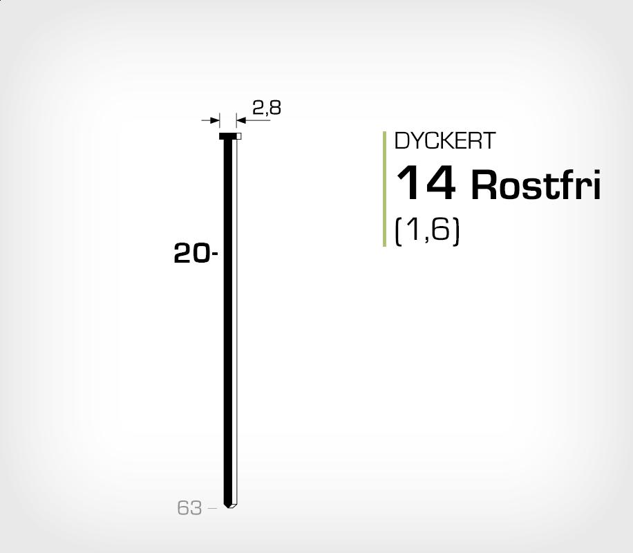 Dyckert 14/20SS Rostfri (SKN 16-20SS)