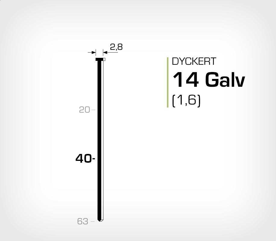 Dyckert 14/40 (SKN 16-40) - 2500 st /ask