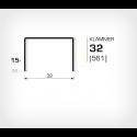 Klammer 32/15 (561-15K) - 20000 st / kartong
