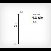 Vitlackerad dyckert 14/25 Vit galv (SKN 16-25 Vit)