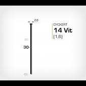 Vitlackerad dyckert 14/30 Vit galv (SKN 16-30 Vit)