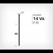 Vitlackerad dyckert 14/40 Vit galv (SKN 16-40 Vit)