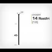Rostfri dyckert 14/45 SS (SKN 16-45 SS)