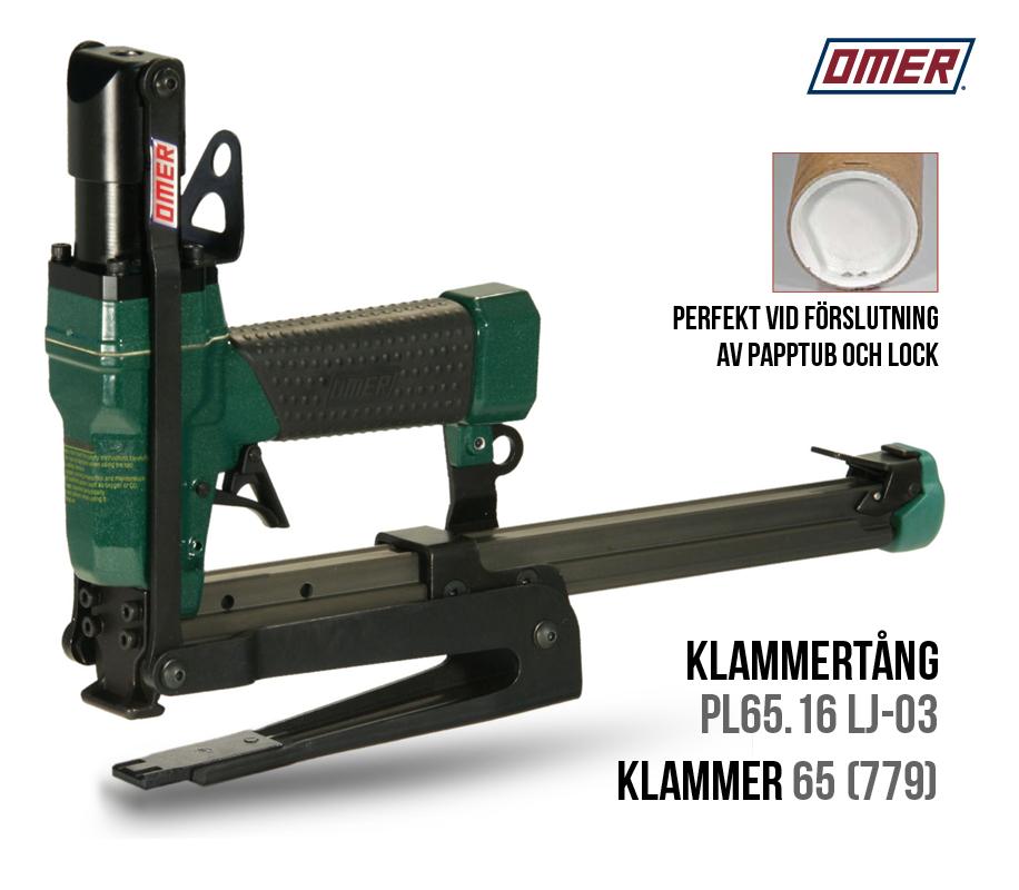 Klammertång PL65.16 LJ -03 för papptuber